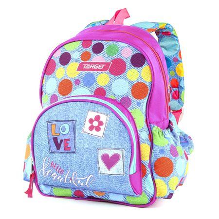 Target Ciljni nahrbtnik, Barvne polka pike, roza-modre