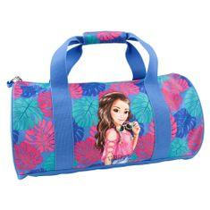 Top Model Sportovní taška , Talita, modro-růžová s tropickým motivem