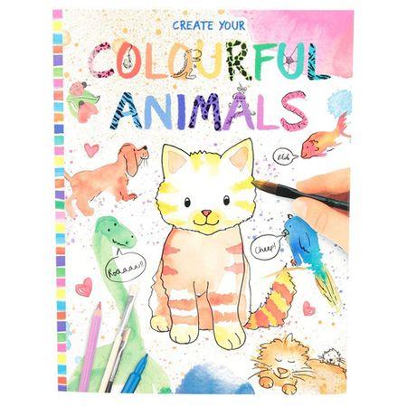 Create Your Stwórz swoją kolorowankę, Kolorowe zwierzęta