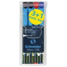 Schneider Popisovače 3+1 Schneider, Maxx 246, 3+1, 0.7 mm