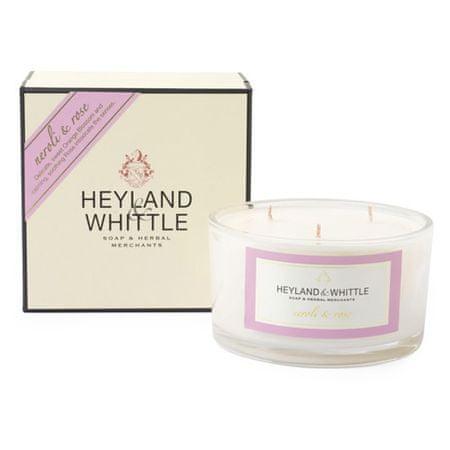 Heyland & Whittle Świeca ozdobny wazon , Neroli i róże, 480 g