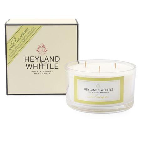 Heyland & Whittle Świeca ozdobny wazon , Dzika trawa cytrynowa, 480 g