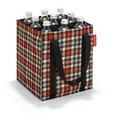 Reisenthel Torba na butelkę , Czarno-czerwony z motywem lat pięćdziesiątych butelka piwa