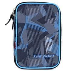 Target Šolska svinčnica s polnilom , enonadstropna, modra / siva