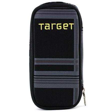 Target Docelowy piórnik szkolny, Żółty napis, kolor czarny
