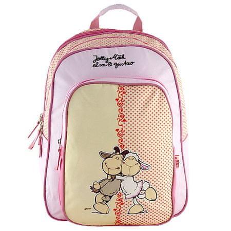NICI Plecak szkolny , żółto-różowe, dwie owce