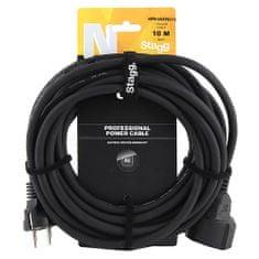 Stagg Prodlužovací kabel , Délka 10 m - černý, napájecí