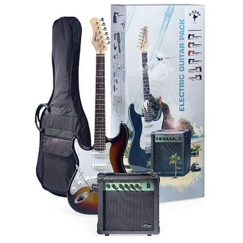 Stagg Gitarová súprava , gitara typu Strat, kombo 10 GA T, príslušenstvo