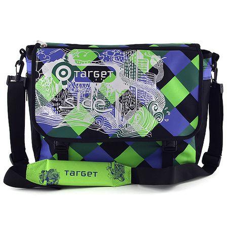 Target Válltáska , kék-zöld négyzetek