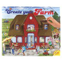 Create Your Kreativní sešit , Farm, červený domek, 435 samolepek