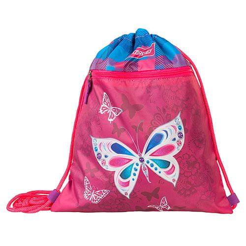 Target Sportovní vak , Bílý motýl, růžový