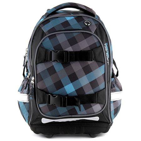 Target Iskolai hátizsák , kék-fekete négyzetek