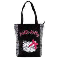 Hello Kitty Nákupní taška , černo-bílá