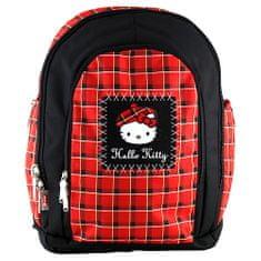Hello Kitty Iskolai hátizsák , piros-fekete
