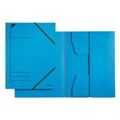 Leitz Kartonové desky , A4, s gumičkami, modré
