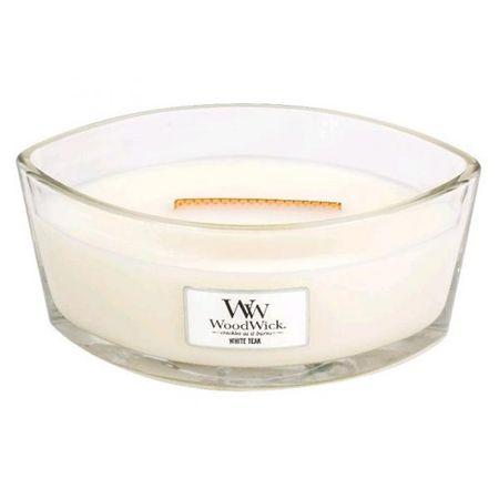 Woodwick Świeca ozdobny wazon WoodWick, Biały teak, 453,6 g