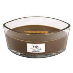 Woodwick Svíčka dekorativní váza WoodWick, Ambra a kadidlo, 453.6 g