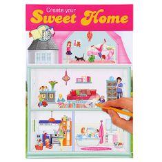 Create Your Kifestőkönyv, kreatív készlet Készítse el az ASST-t, Ház