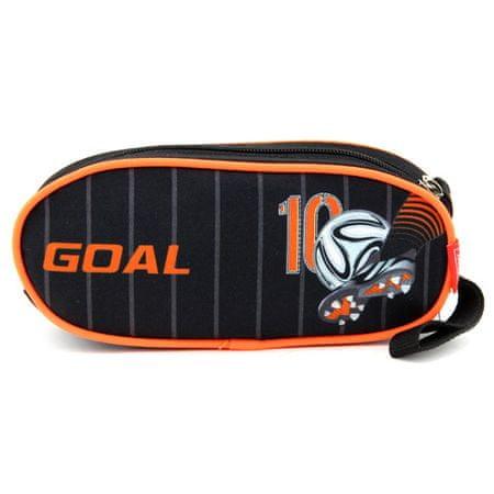 Target Célzott iskolai ceruza tok, Labdarúgás, egyszerű, narancssárga-fekete
