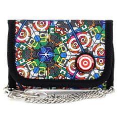 Target Cél pénztárca, színes, fekete szegéllyel, emblémával