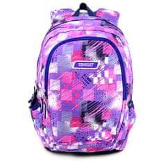 Target Ciljni nahrbtnik za učence, Roza-vijolična z vzorcem