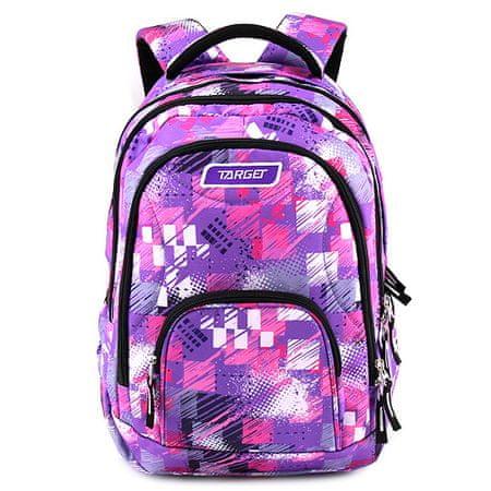 Target Iskolai hátizsák 2in1 , Rózsaszín-lila mintával