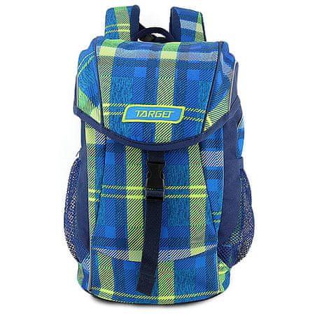 Target Cél hátizsák, Kockás, zöld-kék