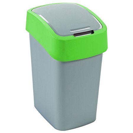 CURVER Kosz na śmieci Curver, Zielony / srebrny, pojemność 10 l