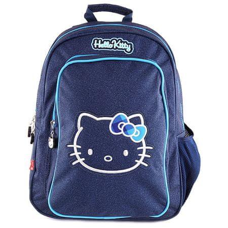 Hello Kitty iskolai hátizsák, sötétkék motívummal