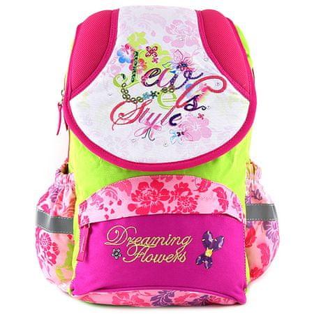 Target Cél iskolai hátizsák, Álmodik virágok, virágmintás
