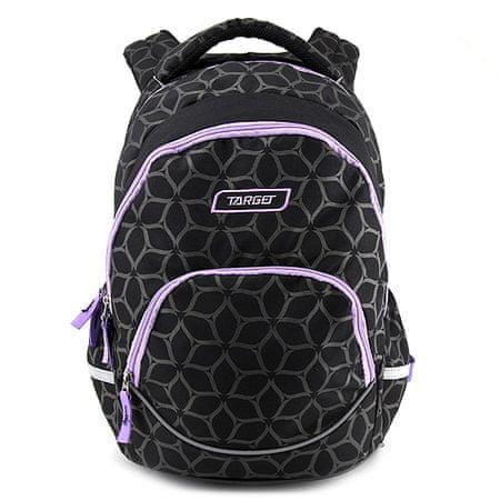Target Ciljni nahrbtnik za učence, Vijolično-črna z vzorcem