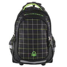 Target Docelowy plecak szkolny, Benetton, czarno / zielony