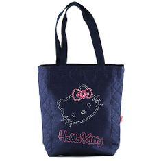 Hello Kitty Nákupní taška , modrá, motiv jeans