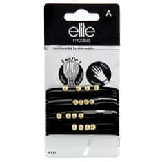 Elite Models Gumis karkötők 2 az 1-ben , 16 db, fekete, átmérő 6,5 cm