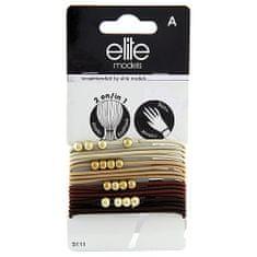 Elite Models Gumis karkötők 2 az 1-ben , 16 db, barna, átmérő 6,5 cm