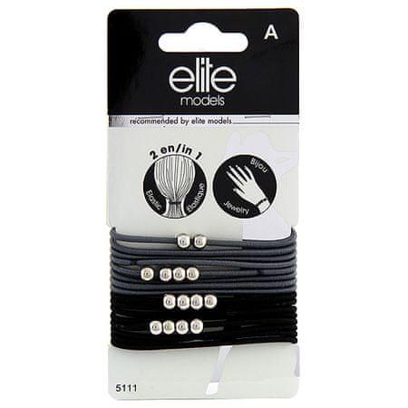 Elite Models Gumis karkötők 2 az 1-ben , 16 db, szürke, átmérő 6,5 cm