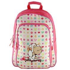 NICI iskolai hátizsák, színes minták motívuma