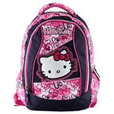 Hello Kitty Batoh , motiv jeans, modro-růžový