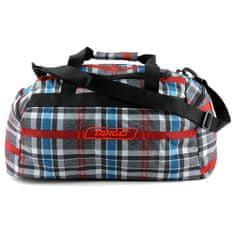 Target Cestovná taška , Kockovaná, červeno/modro/sivá