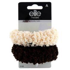 Elite Models Gumičky do vlasů 2ks , 2ks, hnědo-béžová, průměr 10cm