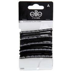 Elite Models Hajgumik 17 db , 17 db, fekete, átmlérő 7 cm
