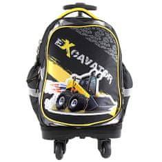 Target Plecak szkolny na kółkach t, Koparka, kolor czarny