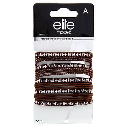 Elite Models Gumičky do vlasov 17 ks ASST, 17 ks, hnedé, priemer 7 cm