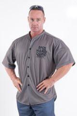 Nebbia 304 HARDCORE Shirt 304 (Grey, L)