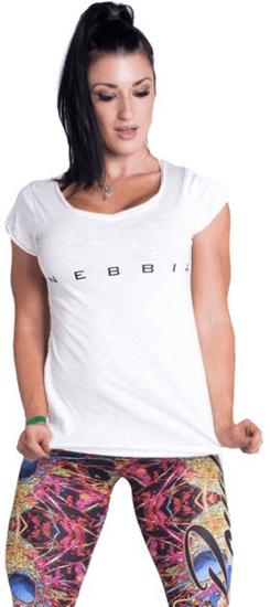 Nebbia 277 Dámske biele fitness tričko T-shirt 277 White, veľkosť L