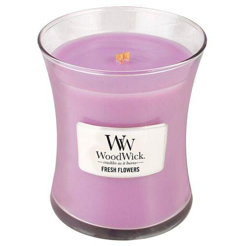 Woodwick Sviečka oválna váza , Čerstvé kvetiny, 275 g