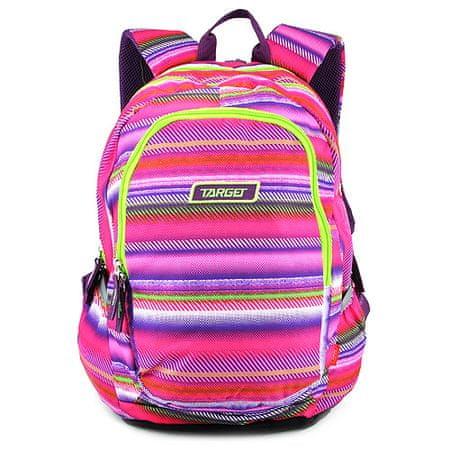 Target Plecak docelowy dla studentów, Kolorowe paski, różowo-zielony