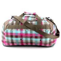Target Cestovná taška Target, Kockovaná, ružovo/modro/hnedá
