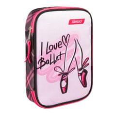 Target Piórnik szkolny z wypełnieniem docelowym, I Love Ballet, jednopokładowy, różowo-czarny