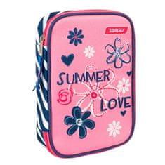 Target Piórnik szkolny z wypełnieniem docelowym, Summer Love, jednopiętrowa, różowo-niebieska